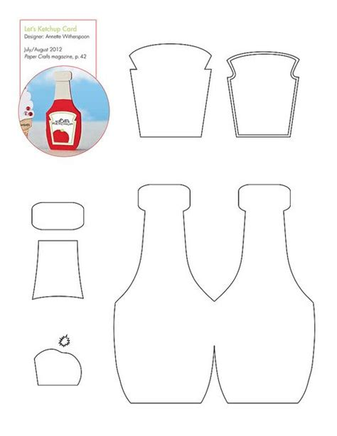 email template pattern free ketchup bottle pattern template patterns for cards