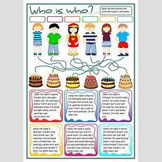 Who Is Who?  Describing People Worksheet  Free Esl Printable Worksheets Made By Teachers