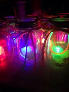 DIY glow in the dark centerpieces under $10.00 | Party ...  Glow