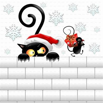 Christmas Cat Funny Mouse Plus