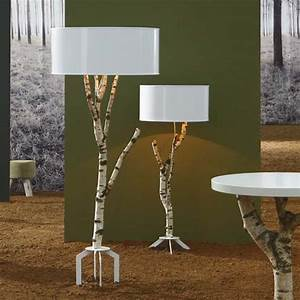 ecological lamp made of natural birch digsdigs With birch tree floor lamp