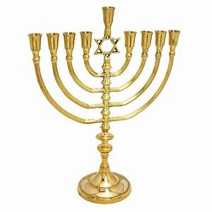 "Solid brass copper XL 14"" Hanukkah Menorah candle holder ..."