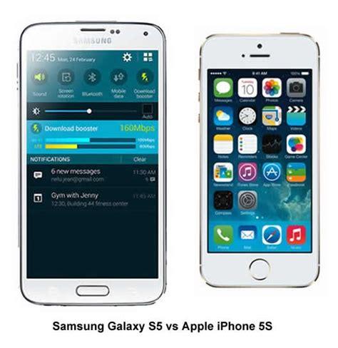 iphone 5s vs galaxy s5 samsung galaxy s5 vs apple iphone 5s