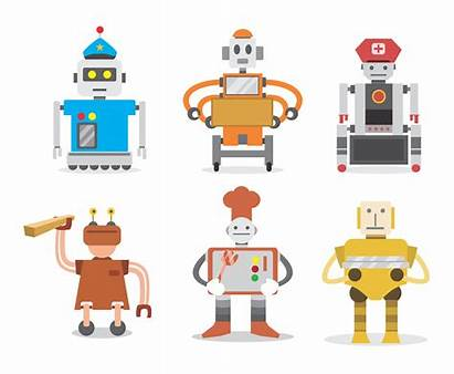 Robot Vector Workers Clipart Graphics Vectors