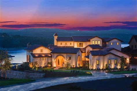absolutely breathtaking santa barbara style home overlooking lake travis mediterranean homes