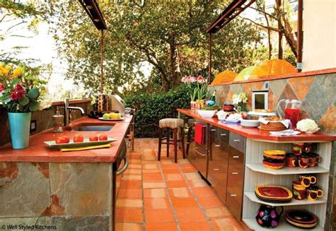 spanish style outdoor kitchen outdoor kitchen