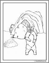 Bear Coloring Cave Den Polar Template Teddy Bears Grizzlies sketch template