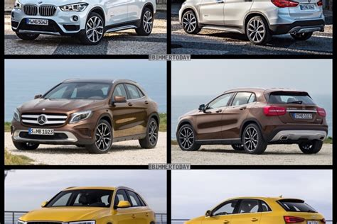 bmw   audi   mercedes gla photo comparison