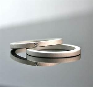 One Tiny Diamond Ring Set Simple Wedding Rings Sterling