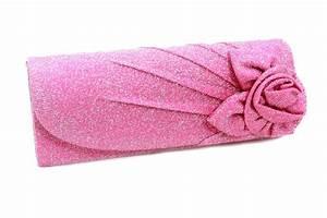 Pochette Or Rose : pochette satin mariage scintillant fleur or bleu rose noir gris ~ Teatrodelosmanantiales.com Idées de Décoration