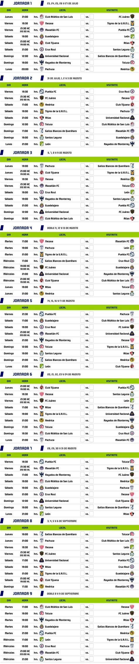Liga MX: Calendario completo del Guardianes 2020 ...