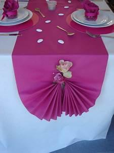 Decoration Pour Bapteme Fille : deco bapteme fille fushia table de lit ~ Mglfilm.com Idées de Décoration