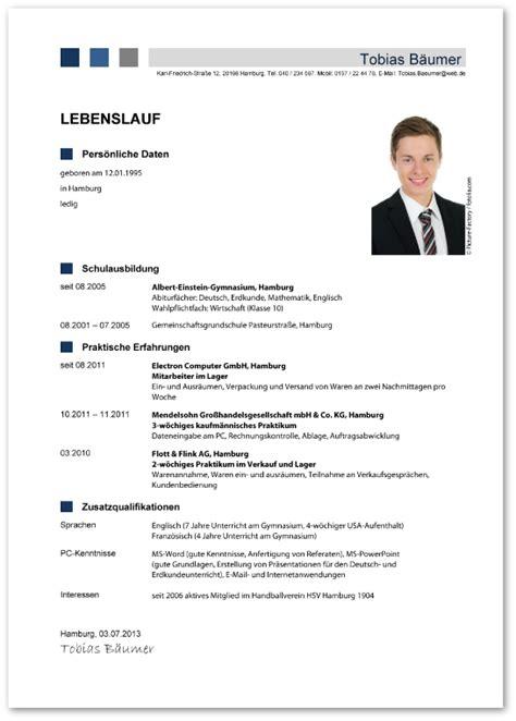 Lebenslauf Mit Bild Vorlage by Der Funktionale Lebenslauf F 252 R Die Bewerbung Zur