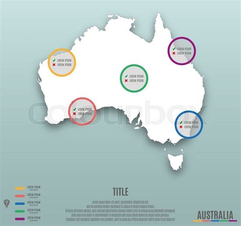 fold flat cart infographic template slide of australia map presentation