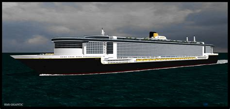 Titanic Vs New Boat by Titanic New Rms Gigantic By G Jenkins Deviantart On