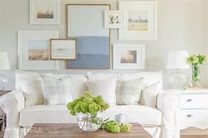 Modern White Slipcovered Sofa