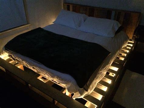 pallet cinder block bed frame  repurposed pallet