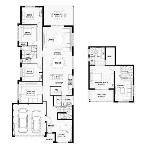 narrow lot homes perth  images storey homes house design floor plans