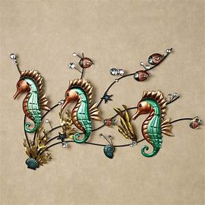 metal seahorse wall decor home design ideas seahorse With kitchen cabinets lowes with seahorse metal wall art