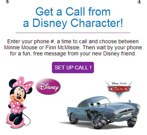 disney cruise phone number get a free phone call from your child s favorite disney