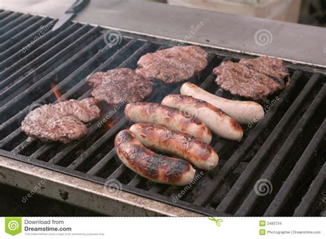 grill cuisine food on grill stock images image 2483734