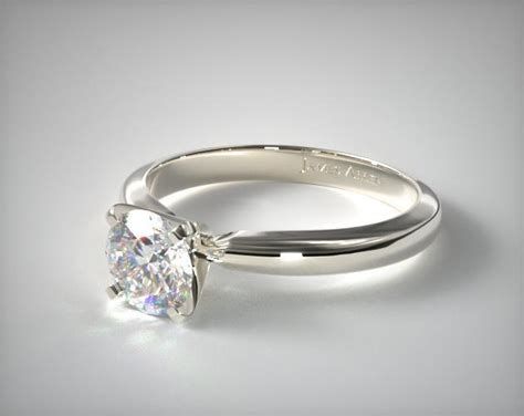 2 5mm comfort fit solitaire engagement ring 14k white