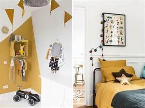 Chambre Bebe Jaune : couleur chambre bebe garcon 2 inspiration le jaune moutarde dans la d233co en 2016 le monde ~ Nature-et-papiers.com Idées de Décoration