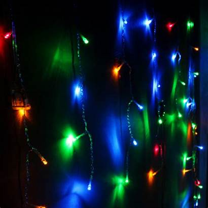 Lights String Led Curtain Icicle Party Outdoor