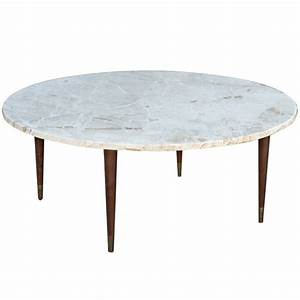 mid century round marble coffee table marbles mid With all marble coffee table