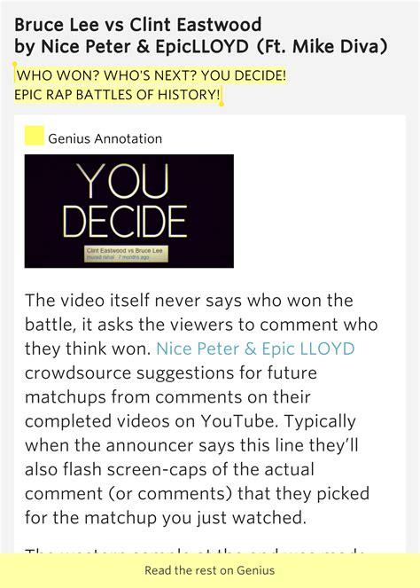 Who Won Whos Next You Decide Epic Rap Battles Of