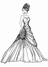 Coloring Pages Printable Gown Please Drawings Any These Reproduce Resell Provided Personal Form Been sketch template