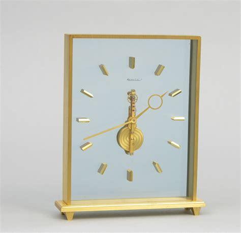 jaeger lecoultre table clock a jaeger lecoultre inline desk clock in presentation case