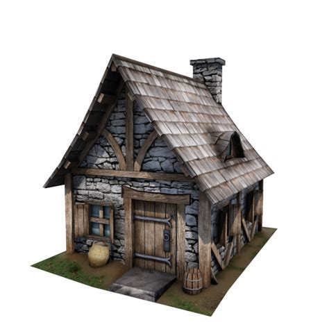cottage home plans small 3d cottage buildings model