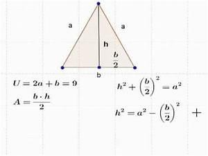 Höhe Gleichschenkliges Dreieck Berechnen : geometrische extremwertaufgabe dreieck lernzuflucht hagen podcast mathematik oberstufe youtube ~ Themetempest.com Abrechnung