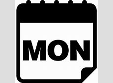 Monday calendar page Icons Free Download