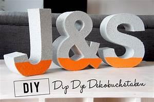 Deko Buchstaben Pappe : diy dip dye dekobuchstaben orangenmond ~ Sanjose-hotels-ca.com Haus und Dekorationen