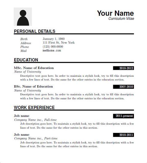 resume templates  mac madinbelgrade