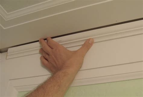half bathroom renovation crown molding design change