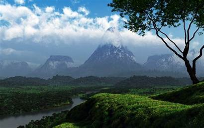 Nature 3d Background Pc Wallpapers Graphics Mountains