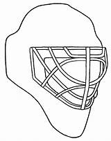 Goalie Hockey Drawing Mask Coloring Pages Blackhawks Getdrawings Chicago sketch template