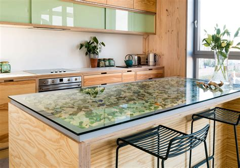 glass countertop ideas    kitchen  bathroom