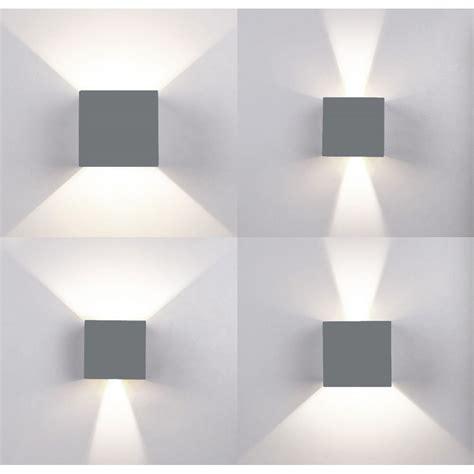 applique cubo applique led cubo grigio lada da parete 5w 750lmn luce