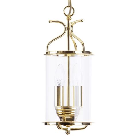 salisbury 2 light ceiling pendant lantern polished brass