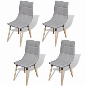 acheter vidaxl chaise de salle a manger 4 pieces gris With salle À manger contemporaineavec chaise en solde