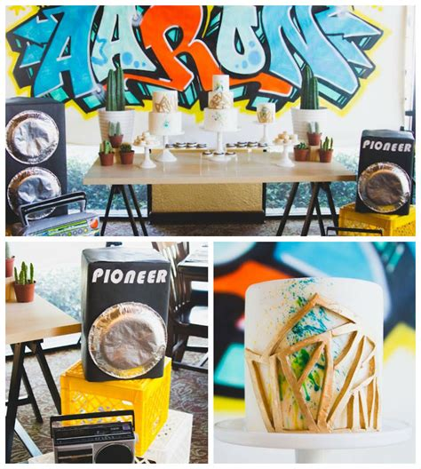 karas party ideas  skool hip hop birthday party