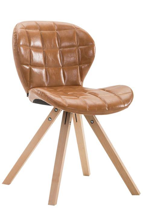 chaise visiteur bureau chaise visiteur alyssa similicuir bois design scandinave