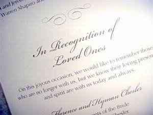weddings 20 ways to honor those who have passed las With wedding ceremony remembrance wording