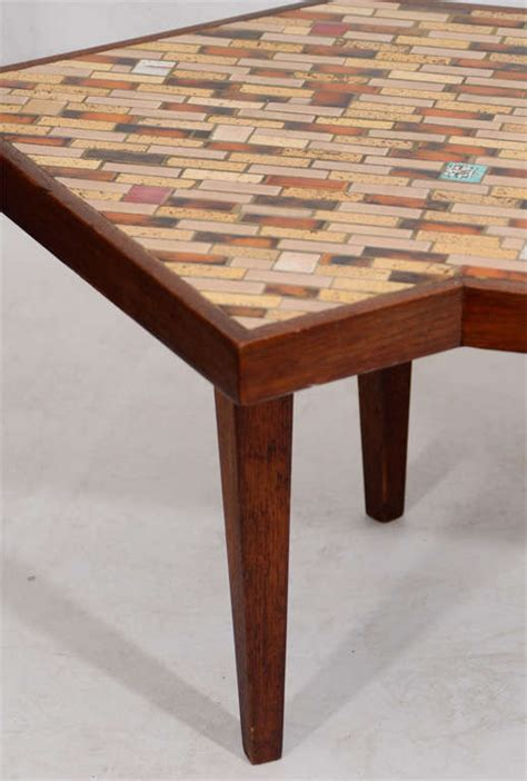 hohenberg mosaic tile top coffee table at 1stdibs