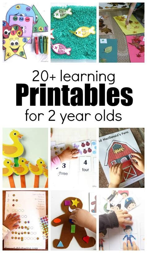 learning activities  printables   year olds