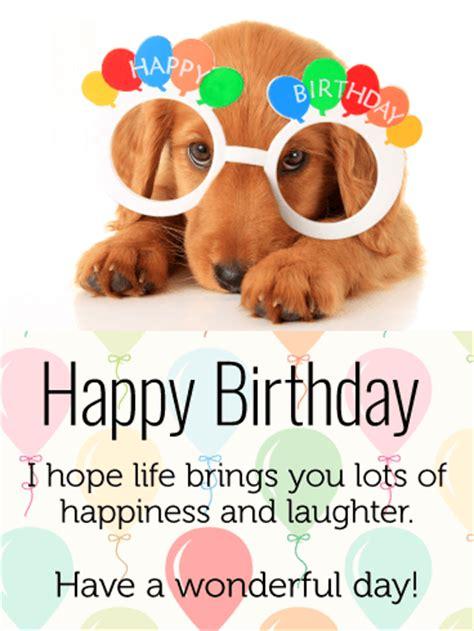 celebrating dog happy birthday card  kids birthday